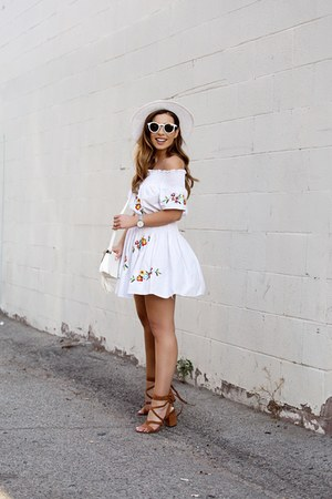 white storets dress - white shoulder bag Forever 21 bag