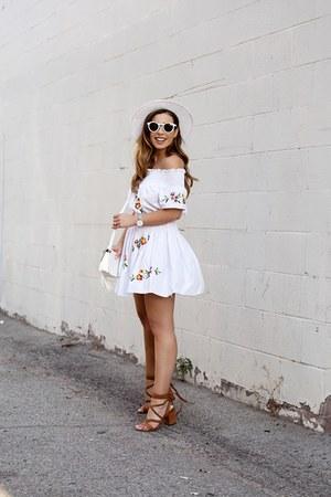white storets dress - white shoulder bag Forever 21 bag