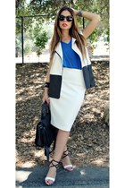 ASTR vest - Zara skirt - Siho top - Guess heels