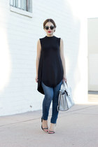 navy skinny jeans Zara jeans - black black dress De Lacy dress