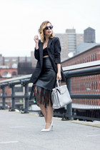 black vintage skirt - navy Nasty Gal blazer