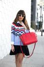 Sky-blue-old-navy-sweater-red-old-navy-bag-black-banana-republic-heels