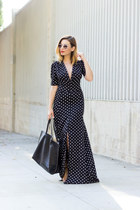 white retro Urban Outfitters sunglasses - black daily look dress