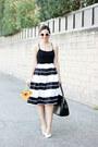 White-retro-zara-sunglasses-black-tank-top-topshop-top