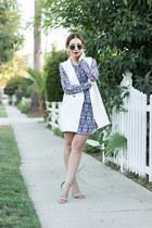 ivory oversized lulus vest - blue mini dress Rory Beca dress