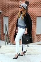 black BCBGeneration heels - ivory Zara jeans