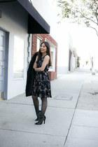 black Paper Crown dress - black Paper Dolls heels - black Hanes stockings
