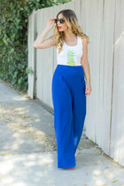 blue Tobi pants - white Style Lately t-shirt