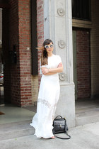 white crop top Fame and Partners top - white maxi skirt Fame and Partners skirt
