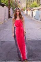 pink flower crown C&C California hair accessory - hot pink C&C California dress