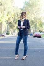 black black blazer Uniqlo blazer - navy high waisted Zara jeans