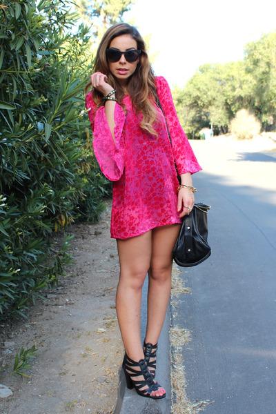 hot pink velvet tunic Gypsy Junkies dress