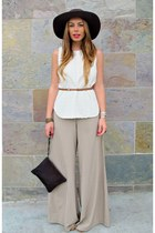 light brown wide leg Forever 21 pants