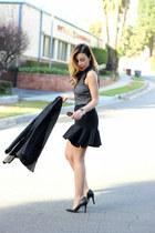 black Nasty Gal blazer - black mini Forever 21 skirt