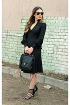 black vintage dress vintage dress - black coach bag