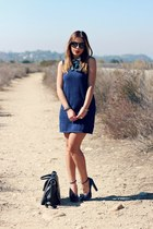 black Tobi sunglasses - navy Urban Outfitters dress