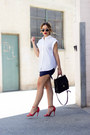 White-oversized-zara-shirt-navy-navy-mini-daily-look-skirt