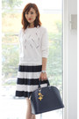 White-mood-closet-sweater-navy-louis-vuitton-bag