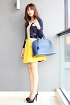 Mood & Closet cardigan - summer purple Zara dress - Louis Vuitton bag