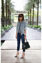light blue denim Gap jacket - skinny jeans 7 for all mankind jeans