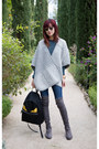 Gray-stuart-weitzman-boots-guess-jeans-heather-gray-knit-club-monaco-cape