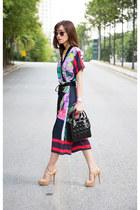 floral print Clover Canyon jumper - christian dior bag - Miu Miu sunglasses