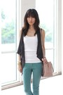 White-topshop-top-teal-forever-21-jeans-neutral-prada-bag-gray-random-vest