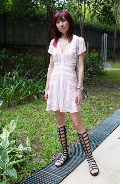 printed Love  Lemons dress - silver Miu Miu bag - stuart weitzman sandals