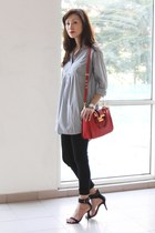 red Miu Miu bag - black Mood & Closet jeans - black Zara heels
