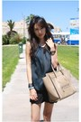 Black-mood-closet-shorts-tan-boston-leather-celine-bag