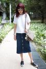 Christian-dior-sunglasses-black-miu-miu-sneakers-denim-ag-jeans-skirt