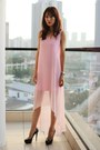 Light-pink-self-designed-dress-black-christian-louboutin-pumps