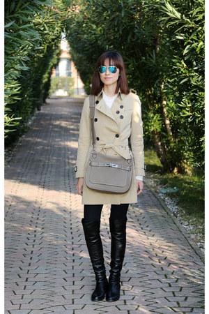 over the knee stuart weitzman boots - Burberry coat