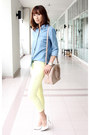 Light-yellow-spring-skinny-mood-closet-jeans-light-pink-prada-bag