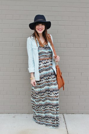 Gap hat - quicksilver dress - piperlime purse - H&M blouse