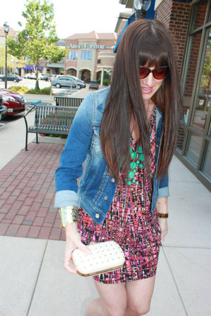 Forever 21 dress - Pepe Jeans jacket - Just Fabulous bag - J Crew necklace