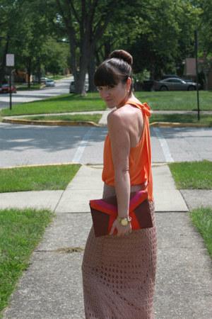 swap blouse - threadsence bag - hazel skirt - Fossil watch