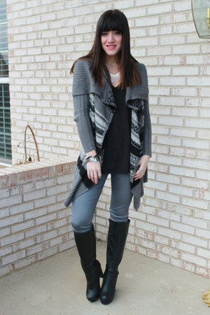 piperlime sweater - just fab boots - just fab jeans