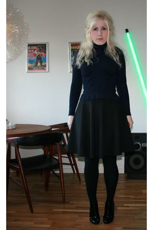 vintage blouse - Zara skirt - black Monki shoes