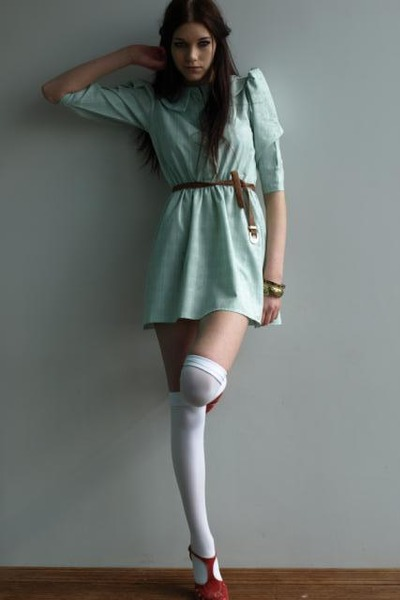 Green Vintage From Ebay Dresses Peter Pan Collar Mini Dress By