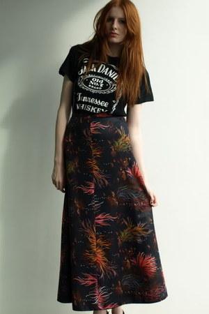 black maxi skirt skirt