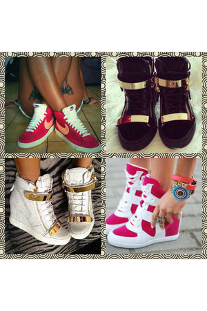 Christian Louboutins&Nike sneakers