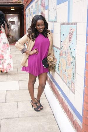 purple asos dress