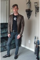 leather Americano jacket - brogues Aldo shoes