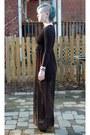 Black-chiffon-forever-21-dress-black-ebay-heels