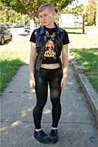 black American Apparel leggings - black star wars thrifted shirt