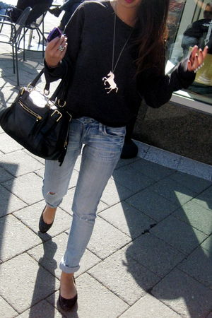 Forever 21 top - H&M jeans - Forever 21 necklace - H&M accessories - Dolce & Gab
