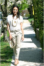 Beige-donna-karen-sweater-beige-fcuk-necklace-beige-zara-pants-beige-aldo-