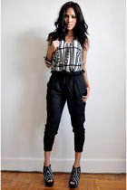 black Silence  Noise top - black Zara shoes - black Silence  Noise pants