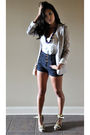 Purple-h-m-blazer-blue-topshop-shorts-white-french-connection-top-purple-f